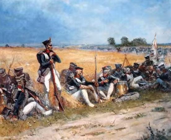 Ватерлоо в начале сражения